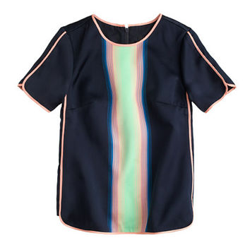 J.Crew Womens Collection Surf-Stripe Top