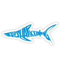 Stop Shark Finning (blue)
