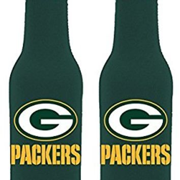 NFL Football 2014 Team Color Logo Bottle Suit Holder Cooler 2-Pack