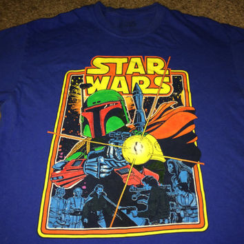 Sale!! Vintage STAR WARS blue T-shirt