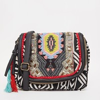 ALDO Crossbody with Tribal Textile Print