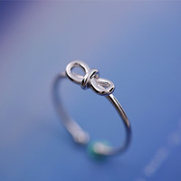 925 Sterling Silver the hollow butterfly knot opening ring