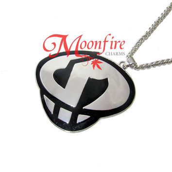 POKEMON SUN AND MOON Team Skull Logo Pendant Necklace