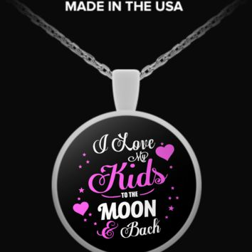 I Love My Kids - round pendant necklace ilovemykids-rn