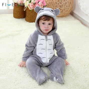 Totoro Cosplay Costume Baby Kigurumi Onesuit Anime Gray Funny Cute Cat Pajama Infant Children Kid Soft Sleeping Suit Party Fancy