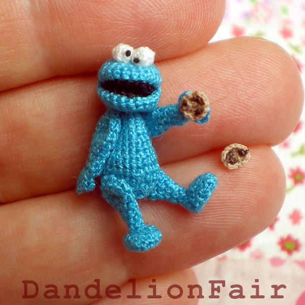 Blue Monster - Miniature Crocheted Plush Toy | Luulla