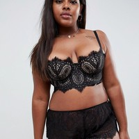 Figleaves Curve French Lace Multiway Longline Bra at asos.com