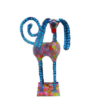 Dog sculpture, Dog Figures, Animals, Metal, Polymer Clay, Made in Israel, Modren