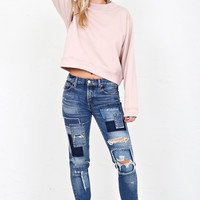 MOUSSY | Patched Tapered Jean