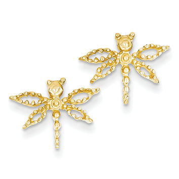 14k Dragonfly Earrings E910