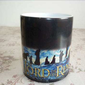 The Lord of The Ring Coffee Mug Mark Color Changing Cup Sensitive Ceramic Tea La Copa Friends Gift