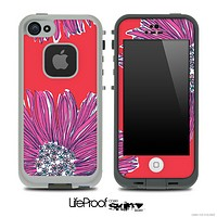 Artistic Purple & Coral Floral Skin for the iPhone 5 or 4/4s LifeProof Case