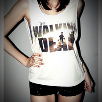 Zombie The Walking Dead Shirt Women Girl Side by iBelieveiCanRock