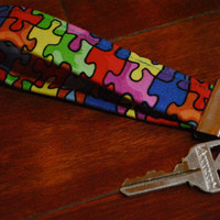 Fobskey - Fabric Key Fob - Autism Awareness