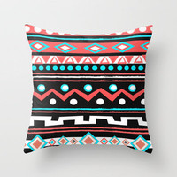 BLACK TIPI Throw Pillow by Nika  | Society6