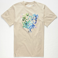 Lrg Flavor Crystals Mens T-Shirt Putty  In Sizes