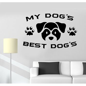 Wall Decal Pet Dog Inscription Words Friend Puppy Vinyl Sticker (ed1603)