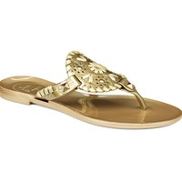 Miss Georgica Jelly Sandal in Gold by Jack Rogers