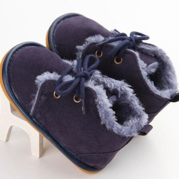 Moccasin Fur Rubber Newborn Baby Girl Boy Kids Prewalker Solid Fringe Shoes Infant Tod