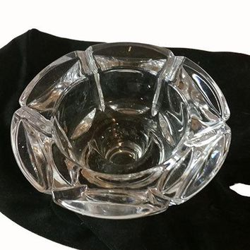 Pair of Lead Crystal Taper Candle Holders
