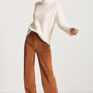Brushed Ribbed Knit Sweater