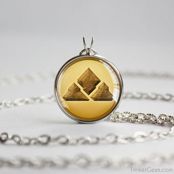 Pkmn pendant Ground type symbol