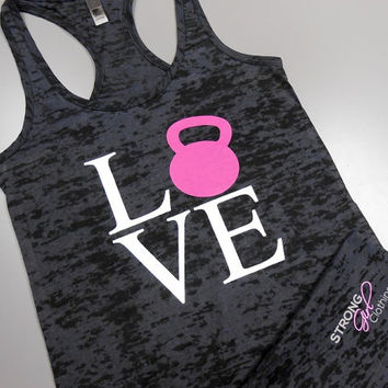 Love Kettlebells Tank Top. Love Kettlebells Shirt. Kettlebell Swings. Womens Crossfit Tank Top. Womens Workout Tank. Womens Gym Tank.