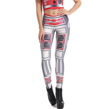 Star Wars Workout Ensemble - Women's Tight-fit Leggings & Tank Top - 3-D Graphic Printed