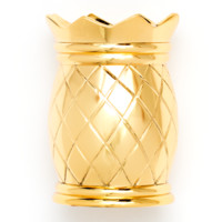 Gold Pineapple Pen Cup