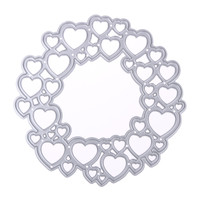 Love Heart Circular DIY Cutting Dies Stencils Scrapbooking Album Paper Card