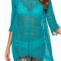 Paulina Turquoise Cover Up