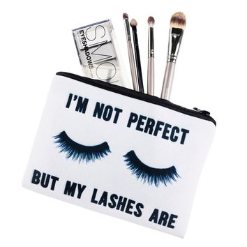 Perfect Lashes Cosmetic Zipper Bag