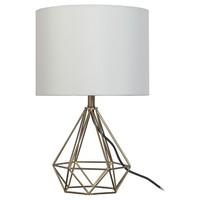 Geometric Metal Small Table Lamp - Room Essentials™
