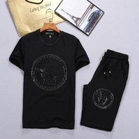 Versace Shirt Top Tee Shorts Set Two-Piece-5