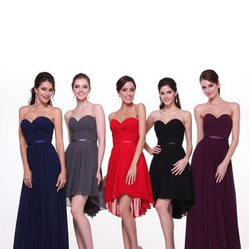 Strapless High Low Prom Formal Short Dress Plus Size Corset Back