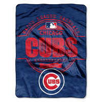 Chicago Cubs MLB Micro Raschel Blanket (Structure Series) (46in x 60in)
