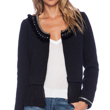 Tularosa Madeline Pom Pom Jacket in Black