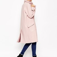 ASOS Coat in Oversized Fit with Patch Pockets at asos.com