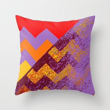 rational meets sparkly irrational Throw Pillow by Marianna Tankelevich