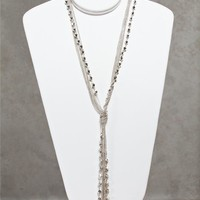 Knot Beaded Necklace