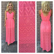Diamond in the Sky Maxi Dress - CORAL