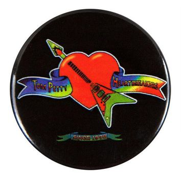 PEAPGQ9 Tom Petty - Heart Logo - Button