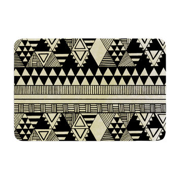 "Louise Machado ""Ethnic Chic"" Tan Black Memory Foam Bath Mat"