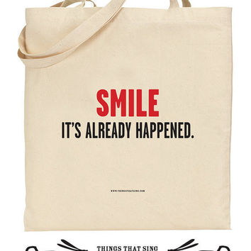 Organic Eco Cotton Tote Bag It's Already by ThingsThatSing