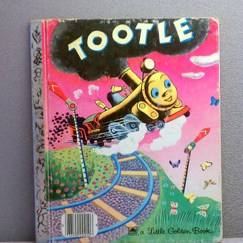 Vintage Children's Book - Tootle Little Golden Book
