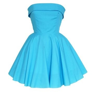 Turquoise Audrey Fifties Style dress