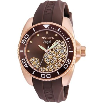 Invicta Women's 23489 Angel Quartz 3 Hand Brown Dial Watch