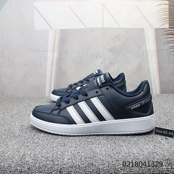 DCCK2 A894 Adidas V RACER TM Leather Fashion Casual Skate Shoes Navy Blue 1