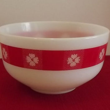 1950s Federal Glass Ovenware Bowl - Country Kitchen Pattern