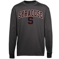 Syracuse Orange New Agenda Midsize Arch Over Mascot Long Sleeve T-Shirt - Charcoal